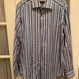 Men's Etro blue stripe button down